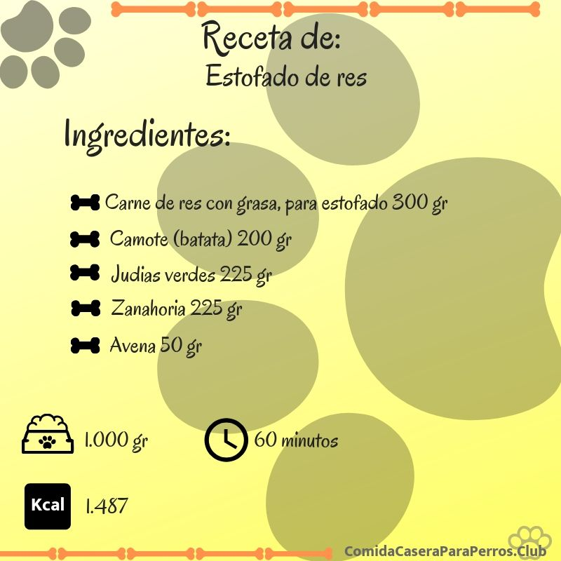 receta de estofado de carne para golden retriever