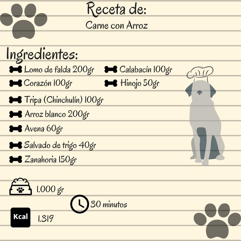 receta comida para perro