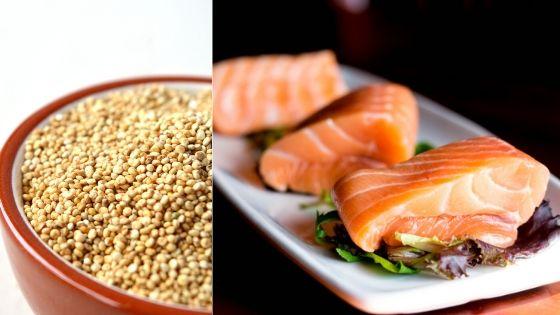 salmon quinua
